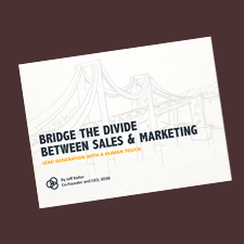 eBook for 3D2B Bridge The Divide: Between Sales and Marketing
